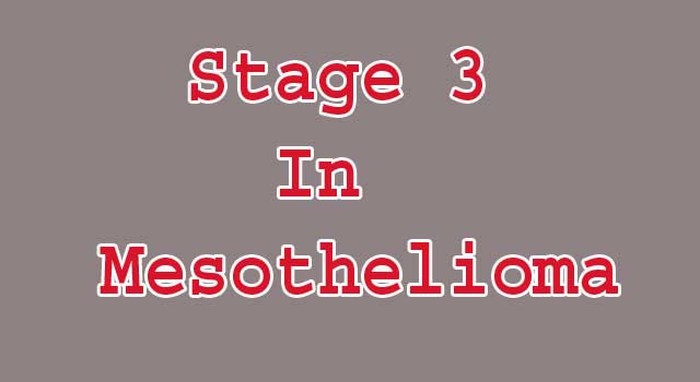 Stage 3 In Mesothelioma