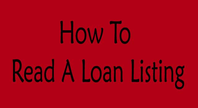How to read a loan listing