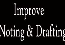 How to Improve Noting and Drafting