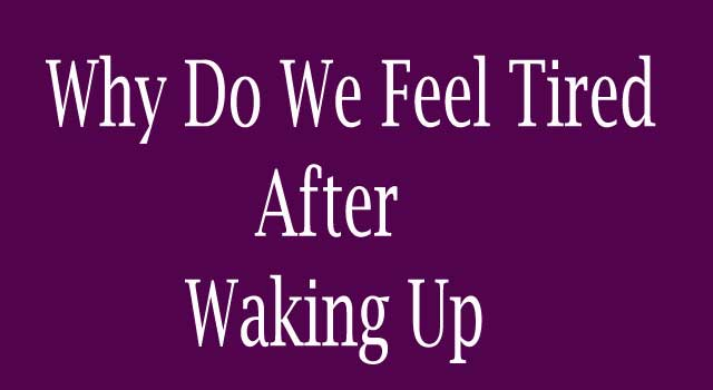 Why Do We Feel Tired After Waking Up