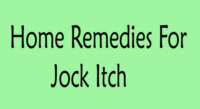 Home Remedies for Jock Itch