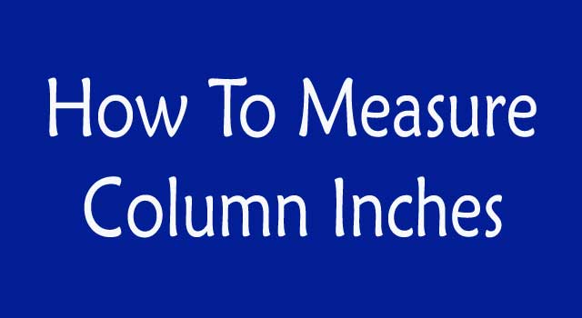 How To Measure Column In Inches