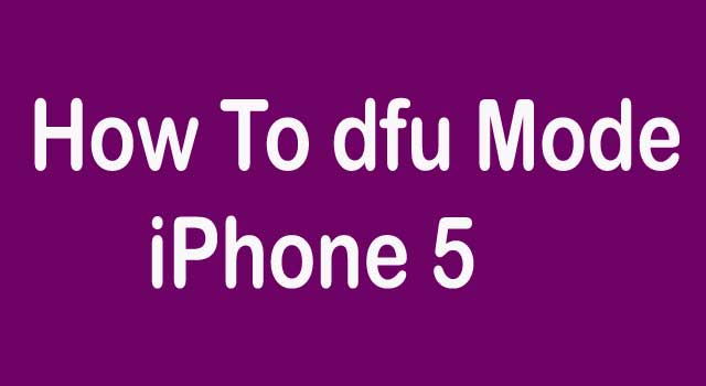 How to Enter DFU Mode on Iphone-5