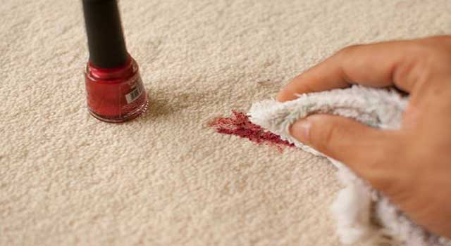 how to get nail polish out of a carpet fast